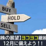 【米国株の展望】ヨコヨコの継続濃厚か?12月に備えよう!