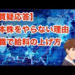 日本株をやらない理由。転職で給料の上げ方(動画)