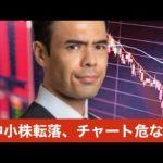 米中小株が転落、チャートは危ないか?(動画)