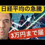 日経平均の急騰、いつ3万円に届くか?(動画)