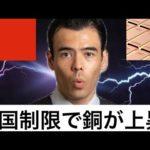 【中国貿易戦争】豪州輸入制限で銅価格が上昇!(動画)