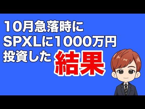急落時にSPLX1000万円買った結果(動画)